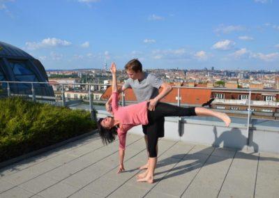 jóga na terase, Česká pojišťovna